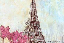 Paris aquarell
