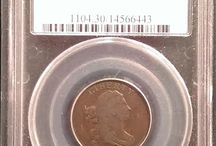 Draped Bust Half Cent / Inventory and prices subject to change. Call (920) 432-5950 for current stock.