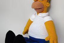 Patrones a crochet de homer simpson
