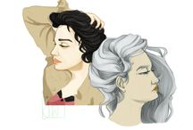 My illustrations / Pins with illustrations drawn by JeanneMonice (Joanna Wilczyńska).