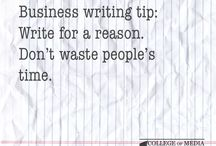 Business writing tips / Handy business writing tips from distance learning course provider, the College of Media and Publishing.