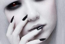 Pretty Halloween Makeup / Ghastly but pretty and glam
