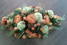 rouwwerk / mooi bloemwerk voor een begrafenis