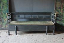 Antique Benches / Benches are endlessly useful and allow you to get creative in interior spaces. Our stunning collection of antique painted benches from rare folk art benches, marriage benches, to Georgian settles, will provide you with plenty of ideas for your home.