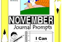 November Writing Prompts Quick Writes / November Writing Prompts Quick Writes. Creative writing prompts for everyday in the month of November. Though your students may not have highly developed writing skills to express their thoughts, they do have bright imaginations filled with all sorts of creative ideas.