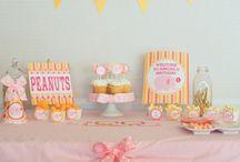 Painel de Inspiração - Festa Infantil Rosa e Amarelo