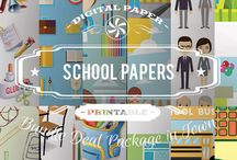 SCHOOL PAPERS / DIGITAL PAPERS - SCHOOL PAPERS  BY DIGITAL PAPER SHOP