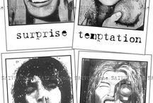 """Láminas impresas sobre papel. """"espresio"""" serie / La serie """"espresio"""", está compuesta por cuatro cuadros en blanco y negro, representando la imagen de 4 chicas expresando cada una un gesto diferente.  Formato Original: 120x125cms."""