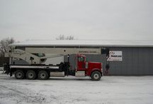 National Crane Truck/ Boom Truck / A 50 Ton National crane mounted on a 2013 Peterbilt.  This boom truck has under 10,000 miles and under 1,334 engine hours!  The winch has a remote control.  The crane has only 904 hours!  This great looking and great working unit will not last long!  Auxiliary winch and jib extension available upon order request for an additional price!