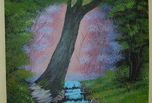 Mé obrazy / Malování akrylovými barvami