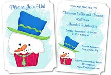 Christmas Invitations & Cards / Christmas invitations and greeting cards created with original art.