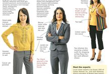 Dress for Success for Women / These pins are examples of what to wear to an interview, job fair, internship, and work. The pins featured here are not brand endorsements. / by Wilson Career