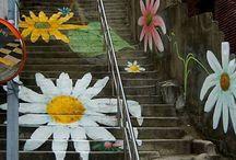 street art et manifestation décorative outdoor / trompe l'oeil / graff / peinture décoratives / art de rue