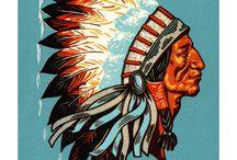 Illustration: Cowboy und Indianer