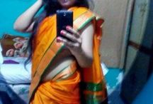 Hot saree / Saree teen navel show