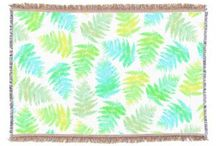 Turquoise Watercolor Throw Blankets