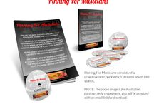 PINNING FOR MUSICIANS - PINTEREST MARKETING / Pinning For Musicians is a course like no other. Devised by musicians for musicians, PINNING FOR MUSICIANS teaches you how to harness the incredible power of Pinterest to ensure your band website, music blog, music products, songs, in fact anything to do with music gets a huge amount of new targeted traffic.   Click any of the images below to ensure that you start gaining new visitors, fans and buyers of your music related products today!