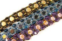 Honeycomb Beads / beading with honeycomb beads