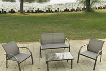 Garden Patio Set Family Relax Summer House Furniture Outdoor Sofa Chairs Table