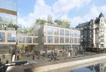 Bureaux du futur / Comment s'intègreront les immeubles de bureaux dans la ville de demain ? Nous sommes convaincus que l'espace de travail du futur sera ouvert sur la ville, flexible, adapté aux nouveaux usages et vecteur de l'image de l'entreprise. Mais il répondra également au besoin de mixité et de confort urbain.