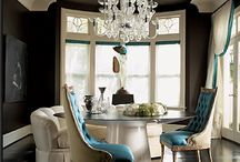 Dining rooms / What's the atmosphere you want at dinner time? Candlelight/Romantic?  Formal? Glamorous? Casual? Sturdy/kid friendly?  And Style? Traditional, modern, transitional, ultra modern, french country, tuscany, eastern european?    For all your Design needs.... donna@group3designstudio.com