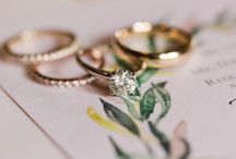 engagement + wedding rings. / Engagement rings and wedding rings.