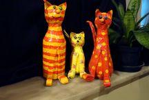 katten maken van plastic flessen