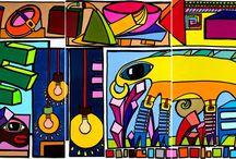 """Face Off / Milan"" / ""Face OFF / Milan"", Triptych for Moxy Hotel Milan by Mimi von Minz"