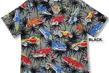 Cars & Motorcycle Shirts / Cars, antique automobiles, motorcycle Hawaiian style Aloha Shirts