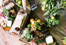 food eating / platter display