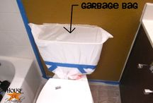 PAINTING THE BACK OF YOUR TOLIET / by Christina Lamb