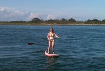 Stand Up Paddleboarding / SUP is great fun and fab exercise for skiers and snowboarders in the off season (read: no snow)!