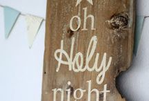 barn wood christmas signs