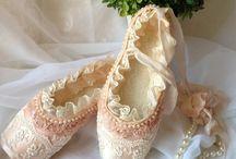 Balettskor för dekoration