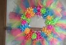 Birthday wreath / Tulle wreath