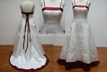 10 Year vow renewal / Colour scheme:  Red, black and white