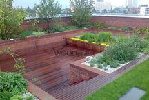 Střešní terasa / #woodparket #dřevo #zahrada #terasy #architektura #terasy #dřevěnaterasa