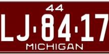Michigan License Plates / Michigan License Plates  In 1903, the Detroit City Council legislated laws to register motor vehicles at a time when many automobile manufacturers were establishing facilities in Detroit.