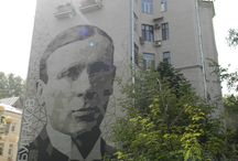Street Art Moscow / Painted Buildings in Moscow