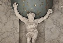 Hidden stories, Atlas / Most people think Atlas carries the earth on his shoulders. But in fact he carries the celestial globe with all the stars, constellations and planets.