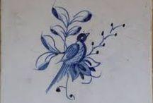 Vogels op tegeltjes
