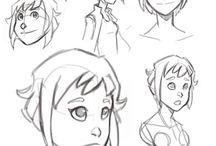 Bocetos personajes La Hija de Atlas / Bocetos por Martín Arrieta y Gekishi.