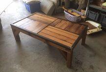 Recyclage bois / Table basse avec récupération de mon plancher de mon ancien balcon