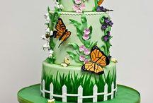 Garden inspired cakes