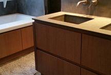 Badmeubels made by Ceramique / Door ceramique haaksbergen ontworpen en gemaakte badmeubels.