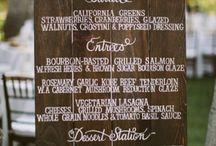 Blissful Events (menu signage)