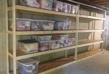 Storage / Unfinished basement idea