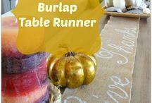 No sew burlap table runner