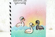 Cards - Flamingo