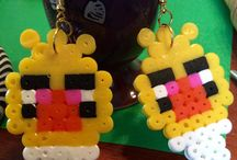 I want this / #hama #perler #beads #earrings